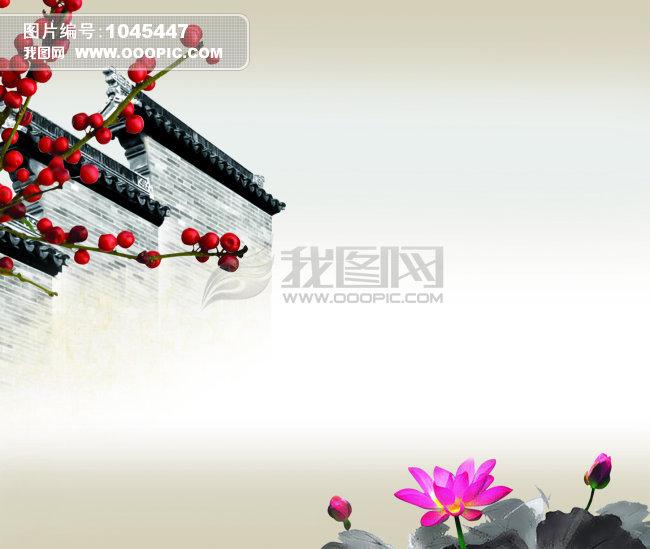 中国风海报背景psd分层模板下载