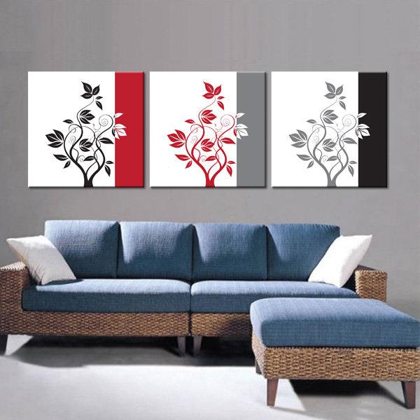 黑白红装饰画