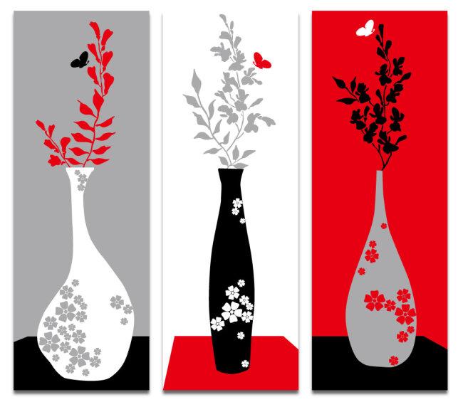 装饰 图形 构成 构成作品 艺术作品 图案作品 花卉 花朵 花 花瓶