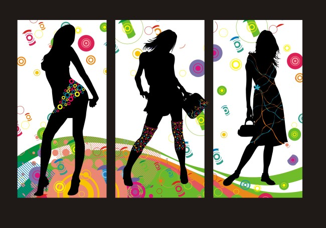 客厅装饰 客厅装饰画 手绘服装效果图 服装店装饰画 服装 服装设计图片