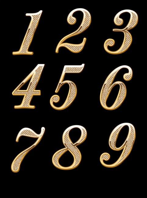 拉伯数字的艺术字_艺术数字
