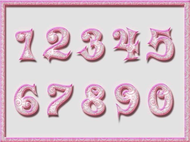 艺术字卡通数字