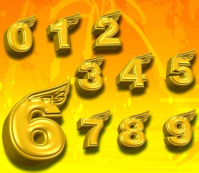 3d立体金色数字