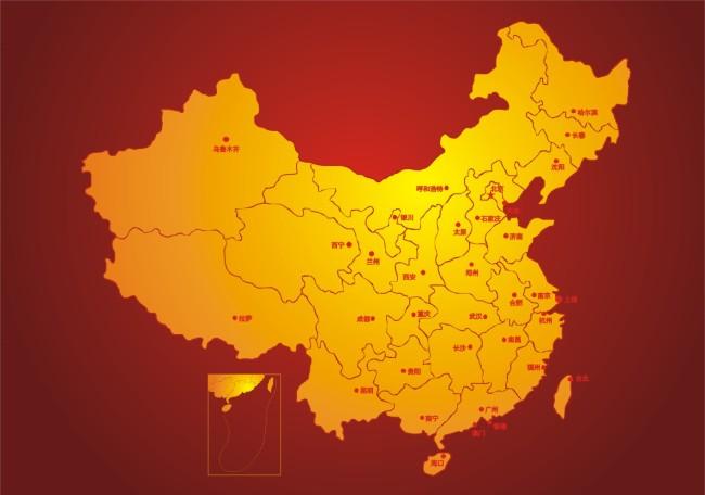 中国地图矢量图模板下载 1071562 其他海报设计 促销 宣传广告