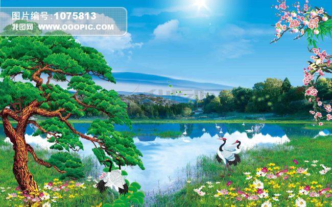 荷花池风景图模板下载(图片编号:1075813)图片