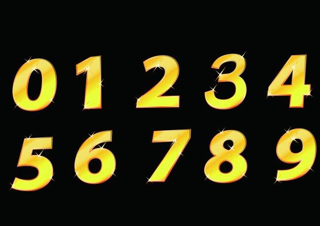 喜庆数字设计 数字设计