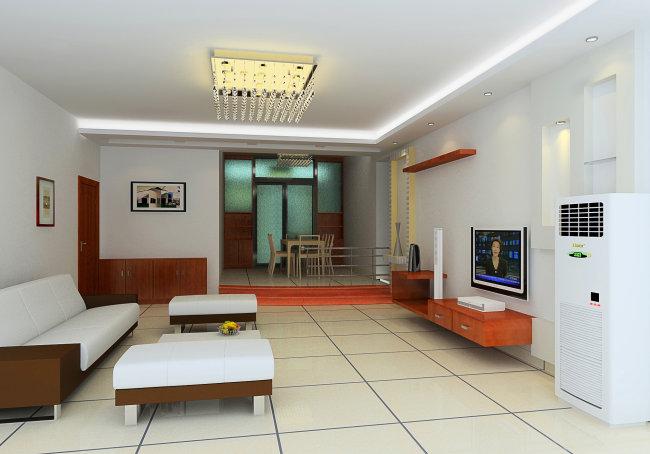 室内设计客厅餐厅3d模型和3d效果图下载