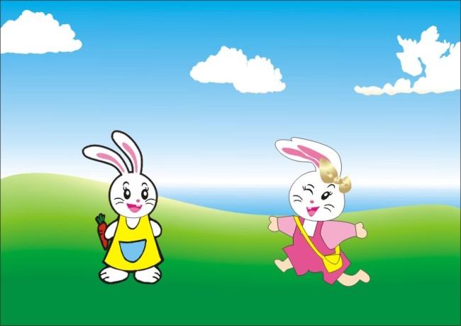 可爱小白兔 卡通