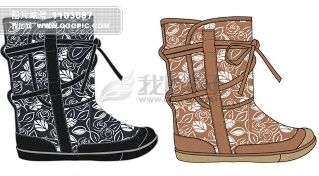 名牌高跟鞋设计图手稿展示