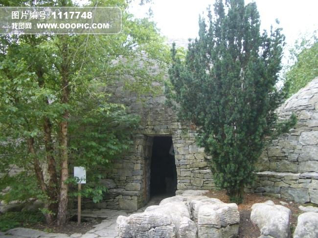 正版图片 建筑 园林 > 园林建筑  建筑 园林建筑 树木 树林 绿色 石头