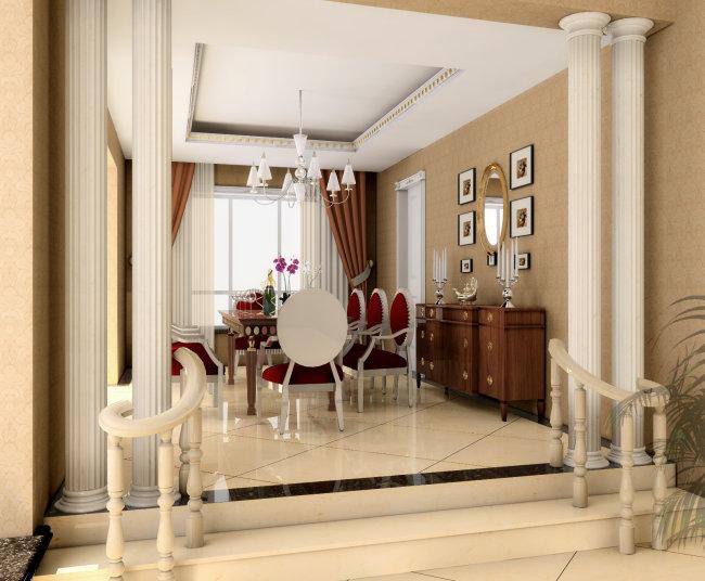 欧式风格室内装修设计图餐厅设计图