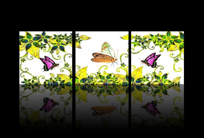 背景墙|装饰画 无框画 植物花卉无框画 > 美丽蝴蝶鲜花无框装饰画  下