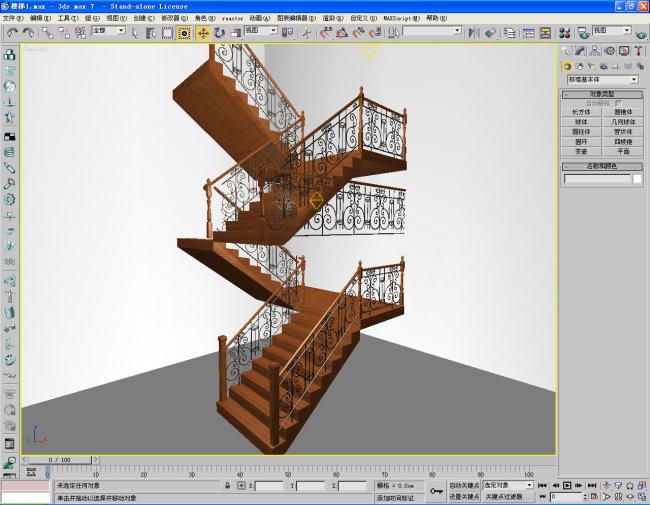 楼梯三层楼全部模板下载
