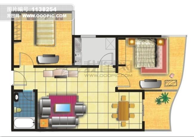 cdr室内平面图