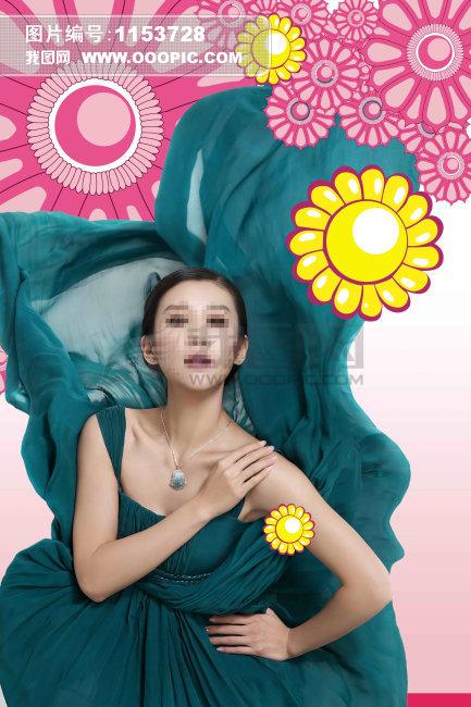 古典美女 荷花-海报设计 宣传设计 海报设计 宣传设计 广告设计设计模