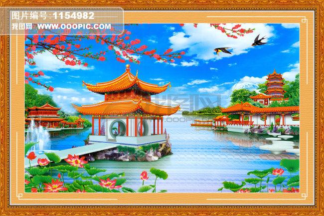 中学生风景画图片_中学生水彩笔风景画图片展示