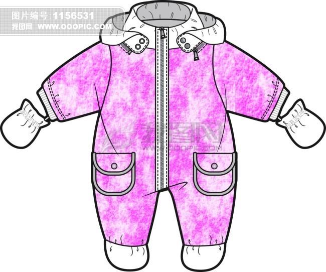 简单儿童服装设计图