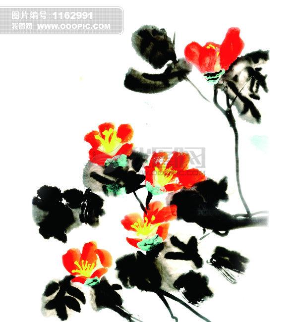 中国国画模板下载 中国国画图片下载 中国国画 风景国画 山茶花
