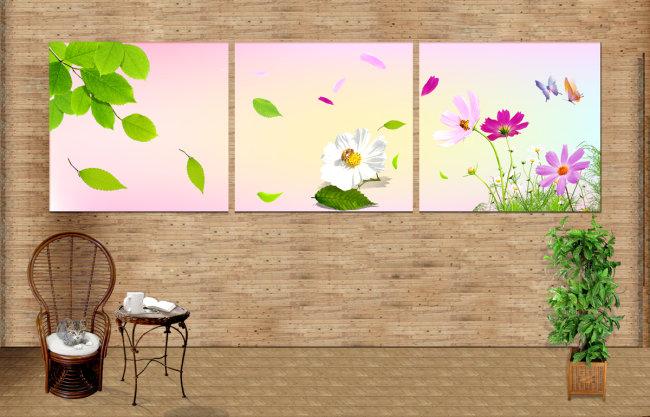 简单植物整体水粉画图片