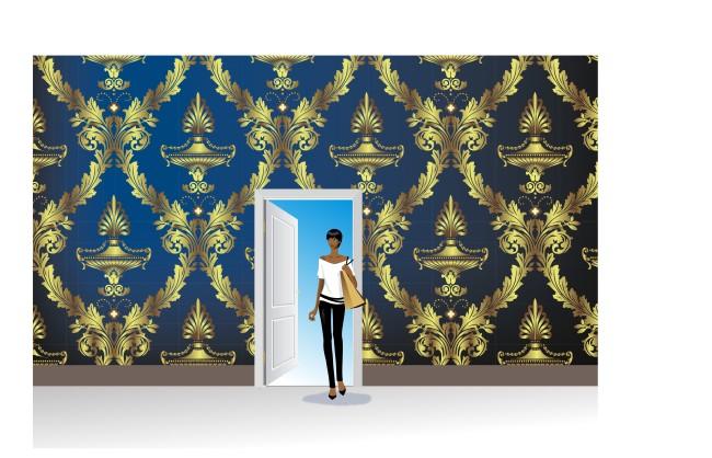 效果图/[版权图片]室内装饰墙纸效果图