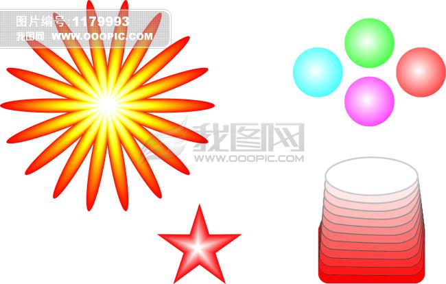 星星和花模板下载 星星和花图片下载 花边 花朵 花瓣 水晶球