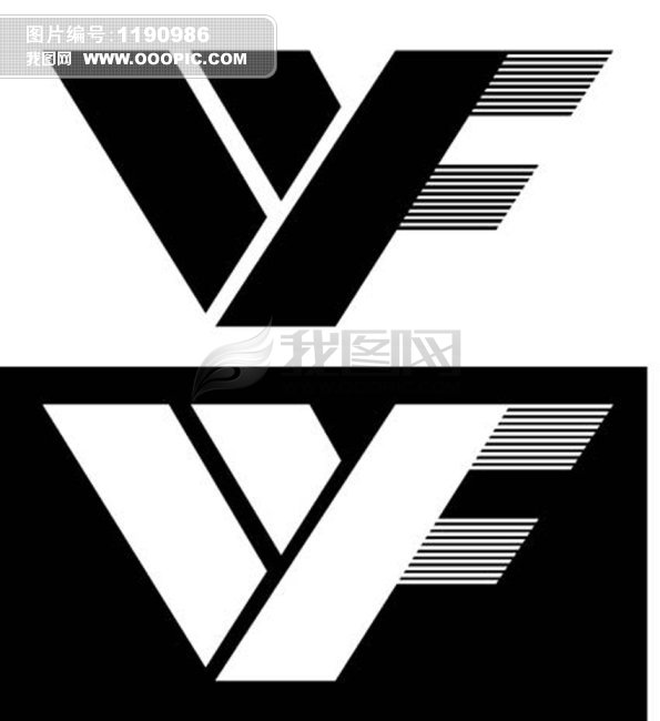 字母wf组合logo