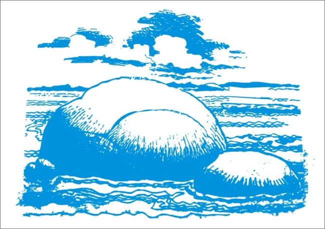 天涯海角-手绘画