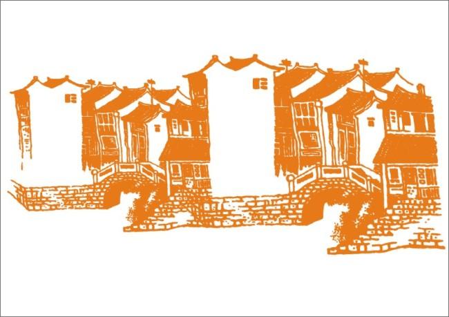 江南小屋-手绘画