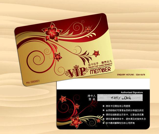 时尚免费vip会员卡模板