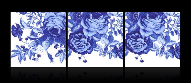 青花瓷无框画室内装饰画模板下载(图片编号:1210520)