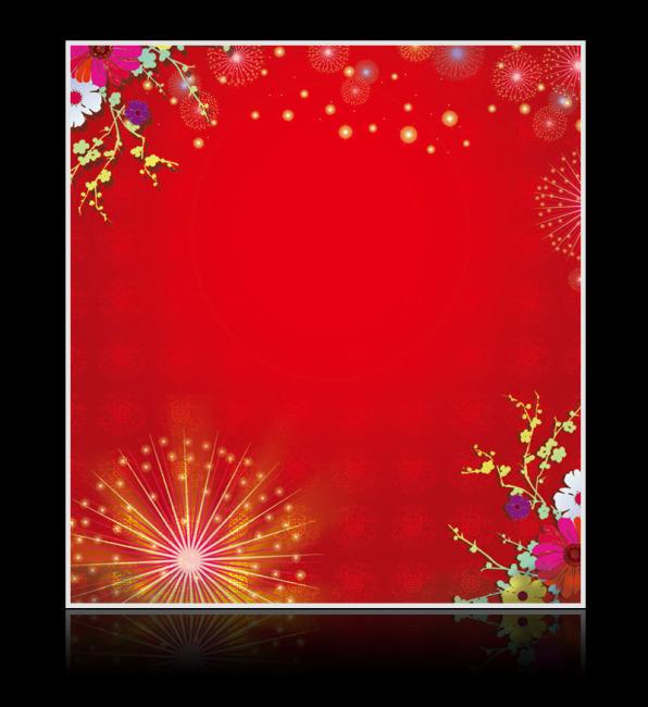 深红色欧式花纹背景