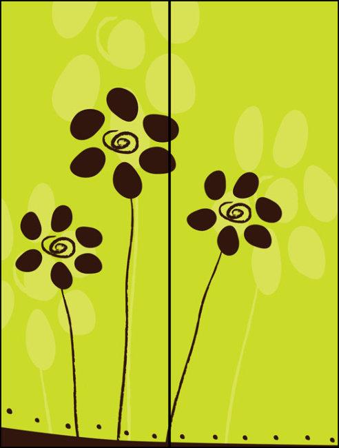 美术简单对称花纹图案