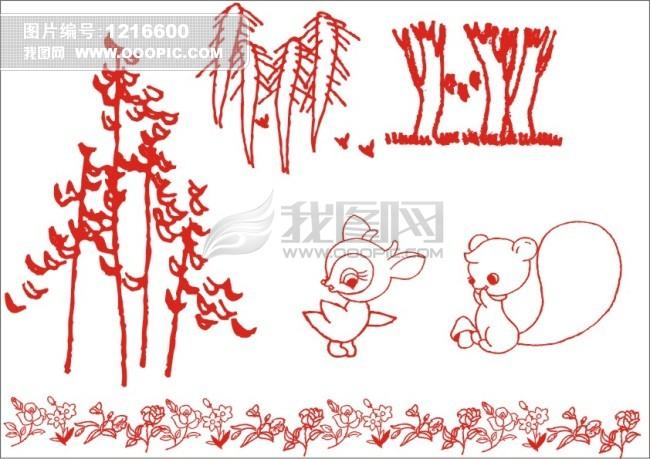 森林小动物简笔画