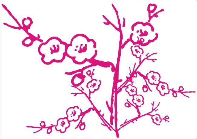 桃花朵朵-手绘画