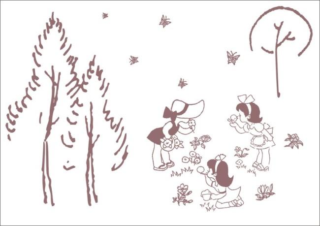 手绘画 女孩子 少女 小女孩