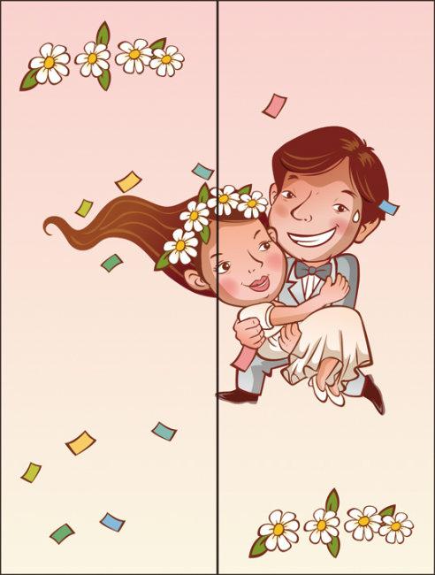 浪漫移门图 卡通人物移门图 卡通爱情移门图 花朵移门图 渐变移门图