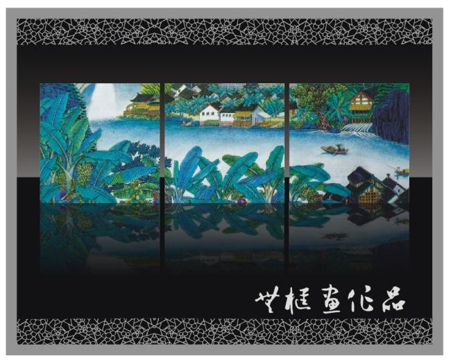 桂林山水无框画设计
