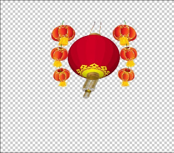 春节 灯笼 卡通