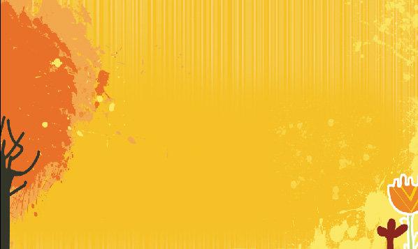 橙色校园风展板背景 教师节