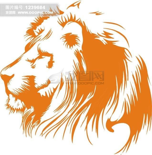 幼儿简笔画 狮子 狮子头简笔画 狮子狮子头 矢量图