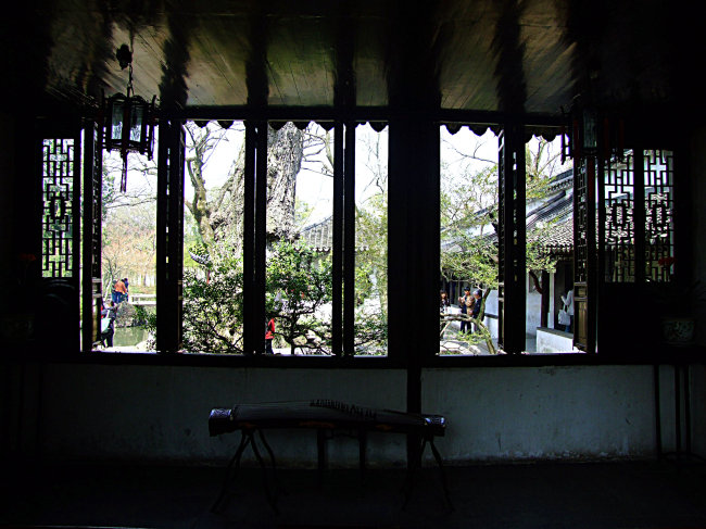 苏州园林 拙政园室内