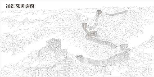 手绘线描月饼图片