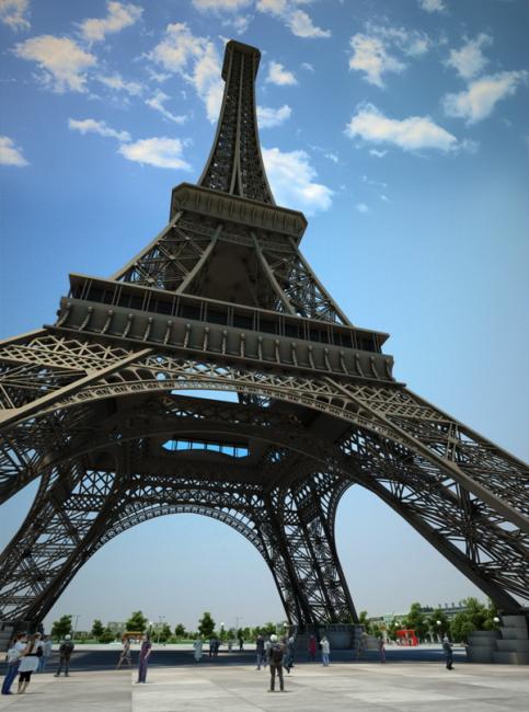 3d模型 建筑模型 商业住宅建筑模型 > 埃菲尔铁塔  下一张&gt