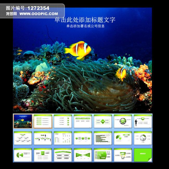 海洋生物行业ppt模板下载