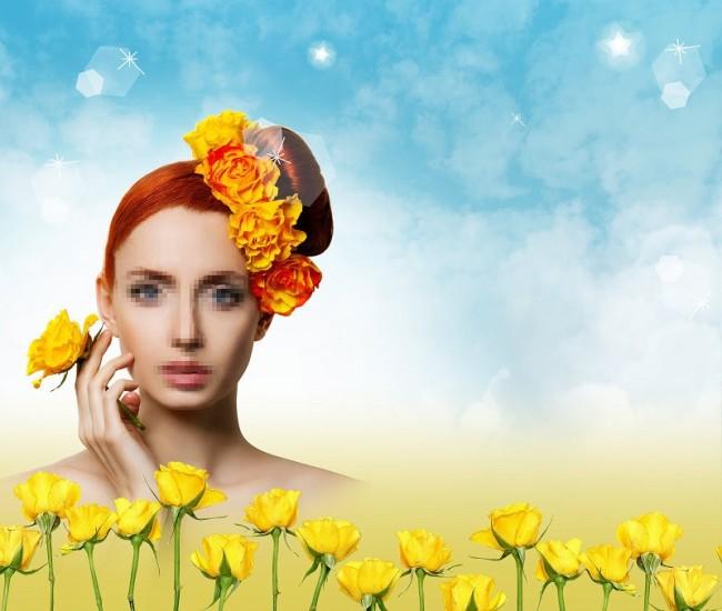 高清美女美容护肤 海报PSD分层素材下载模板