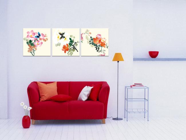 室内手绘无框画