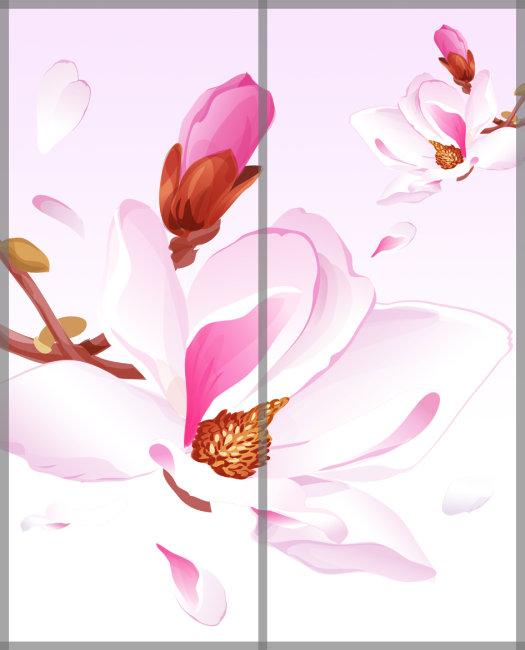 背景墙|装饰画 其他 移门 > 玉兰花移门  下一张> [版权图片