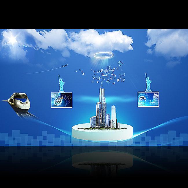 电子科技产品海报模板