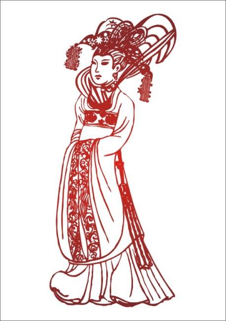 古代皇后娘娘-手绘画