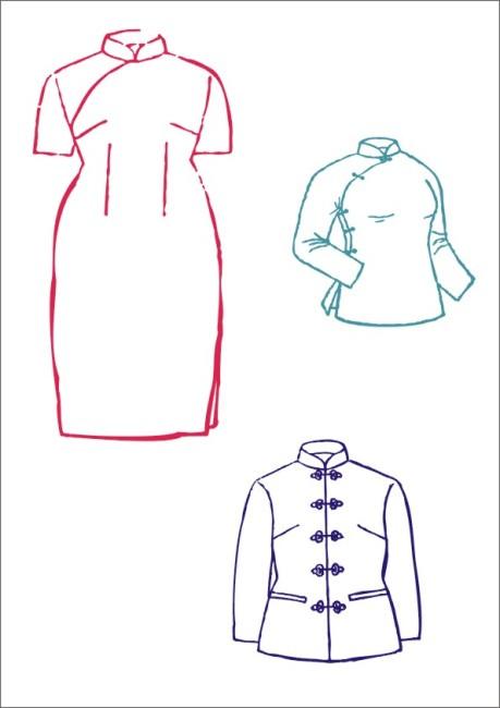 手绘服装领子设计图